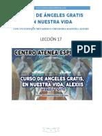 Curso de Angeles Gratis Leccion 17 en Nuestra Vida Alexiis y Centro Atenea Espiritual.