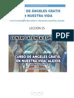Curso de Angeles Gratis Leccion 25 en Nuestra Vida Alexiis y Centro Atenea Espiritual.