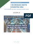 Curso de Angeles Gratis Leccion 26 en Nuestra Vida Alexiis y Centro Atenea Espiritual.