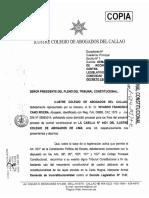 - Demanda de inconstitucionalidad presentada por el Colegio de Abogados del Callao.