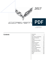 2017 Chevrolet Corvette Sportst Car Owners Manual