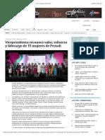 Vicepresidenta Reconoce Valor, Esfuerzo y Liderazgo de 15 Mujeres de Prosoli