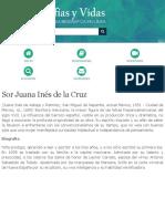 Biografia de Sor Juana Inés de la Cruz