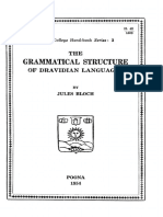 Bloch - The Grammatical Structure of Dravidian Languages (1954)