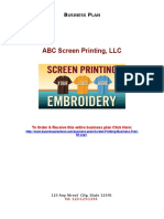 69 Sample Screen Printing Business Plan Sample