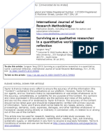 Surviving as a qualitative researcher in a quantitative world