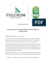 Fulcrum Partners Los Angeles Expands With New Offices in Newport Beach