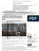 Cement Cos Raise Product Price for Second Time in North, Cut Further in South - Moneycontrol