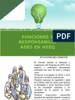Funciones y Responsabilidades en Hseq