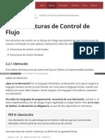 2.2. Estructuras de Control de Flujo