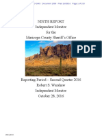 Melendres #1858 - Monitor 9th Quarterly Report w Comments