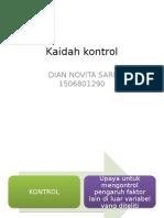 Kaidah Kontrol
