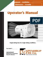 Manual de operación ventilador