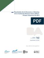 Resultados de la Encuesta a Librerías de la Ciudad de Buenos Aires (ENLI). Primer trimestre de 2014