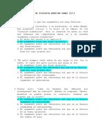 Exámen de Filosofía 11