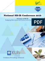 Proceedings Abstracts National HR-IR Conference 2016