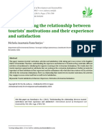 13. Tourists' Motivations and Their Experience and Satisfaction