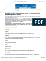 Omega-3 Fatty Acid Supplementation Lowers Serum FSH in Normal Weight but Not Obese Women