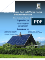 Solar Hydrogen Fuel Cell Water Heater (Educational Stand)