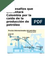 Los Desafíos Que Enfrentará Colombia Por La Caída de La Producción de Petróleo