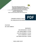 Fundamentación Teorica y Legal Del Sistema Educativo Venezolano