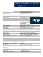 UG Academic Calendar 2016-17