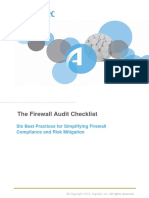 Firewall Audit Checklist