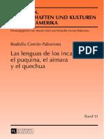 Cerron-Palomino 2013-Las Lenguas de Los Incas-el Puquina El Aimara y El Quechua