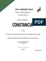 Constancia DE TRABAJO PARA CARPINTERO