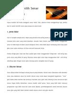 Langkah Langkah Memilih Senar Gitar Dan 4 Merk Sen