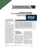 Principios Rectores de La Inversión Pública Nacional - Autor José María Pacori Cari