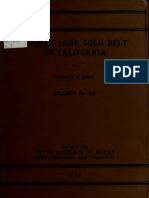 No 108 - Mother Lode Gold Belt in California - 1935