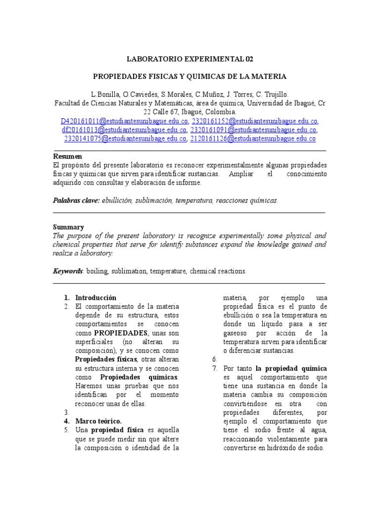 Laboratorio 02 2 Reacciones Químicas Líquidos