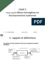 Calcul Réacteurs-CHAP 3