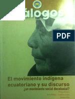 Revista Diálogos 4 El movimiento Indígena ecuatoriano y su discurso  ¿un movimiento social decolonial ?