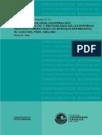 Ciencia Tech Tic y Manufactura. Caso Peru