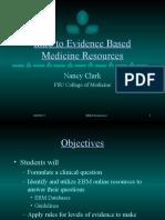 Evidence Based Medicine Resources
