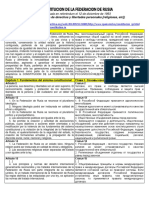 Constitucion Rusia 1993- Articulos Sobre Derechos y Libertades Personales (Español y Ruso)