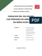 Practica 3 oxidacion de Ioduro