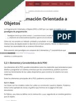 5.2. Programación Orientada a Objetos