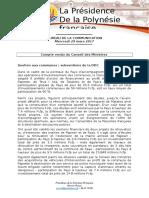 Compte Rendu Du Conseil Des Ministres Du Mercredi 29 Mars 2017