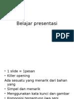 Belajar presentasi