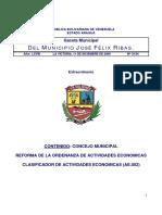 Reforma de Actividades Economicas Definitiva 2010