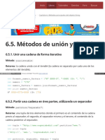 6.5. Métodos de Unión y División