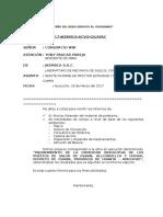 Carta de Informe 15 de Ensayo a La Resistencia a La Compresion