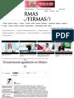 El matrimonio igualitario en México (1) - Grupo Milenio