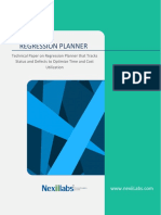 Regression Planner Whitepaper