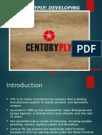 PPT on Centuryply case study