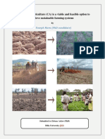 The role of Conservation Agriculture (CA) for sustainable farming and ecological conservation