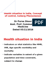 Health Situation in India, Concept of Control Ppt2